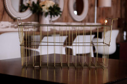 Large Gold Wire Basket
