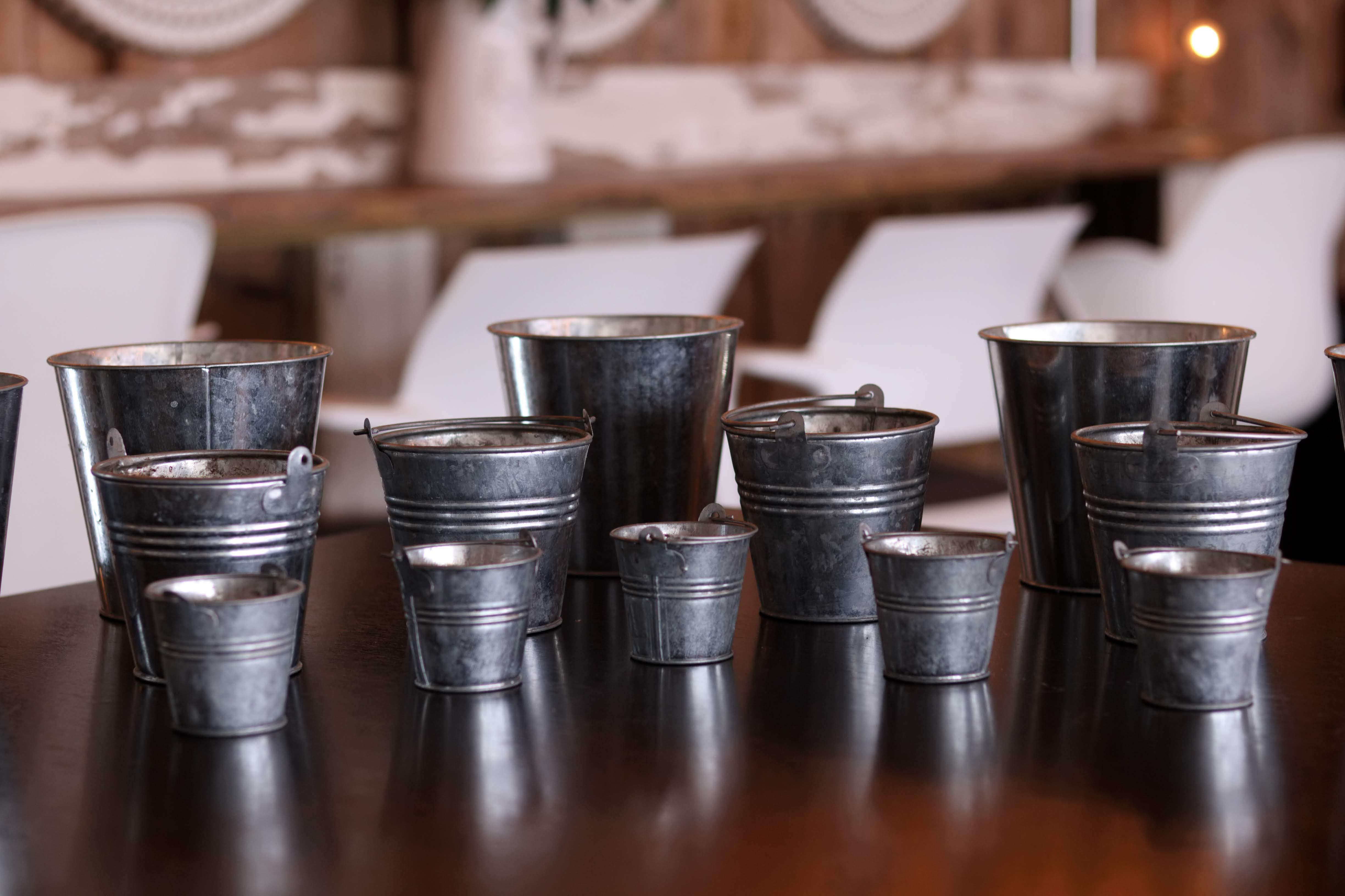 Assorted Tin Buckets