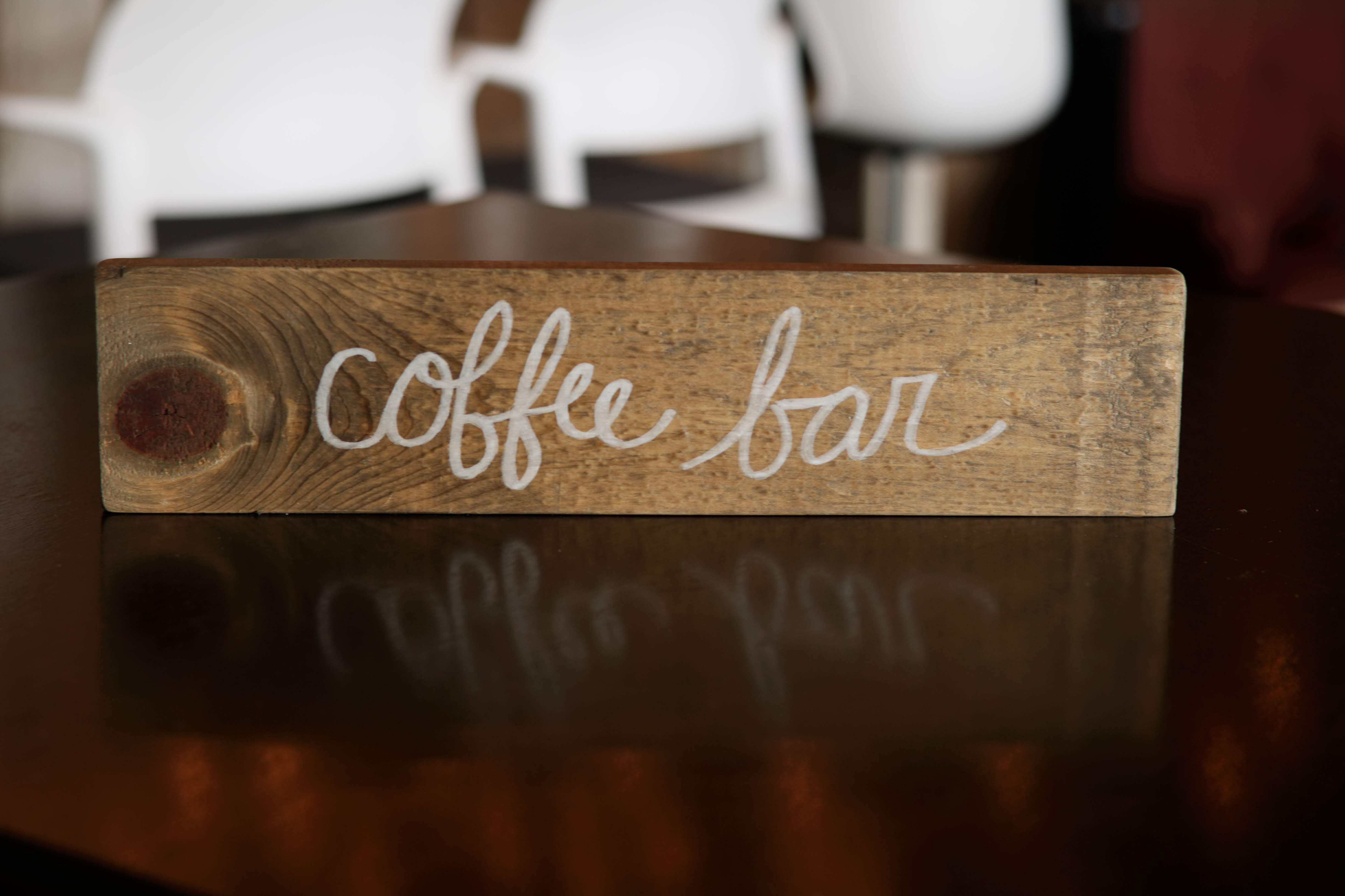Wooden Coffee Bar