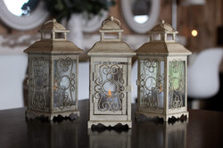 Small Square Cream Lanterns
