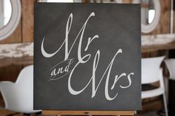Grey Canvas Mr. & Mrs.