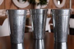 Tall Tin Buckets