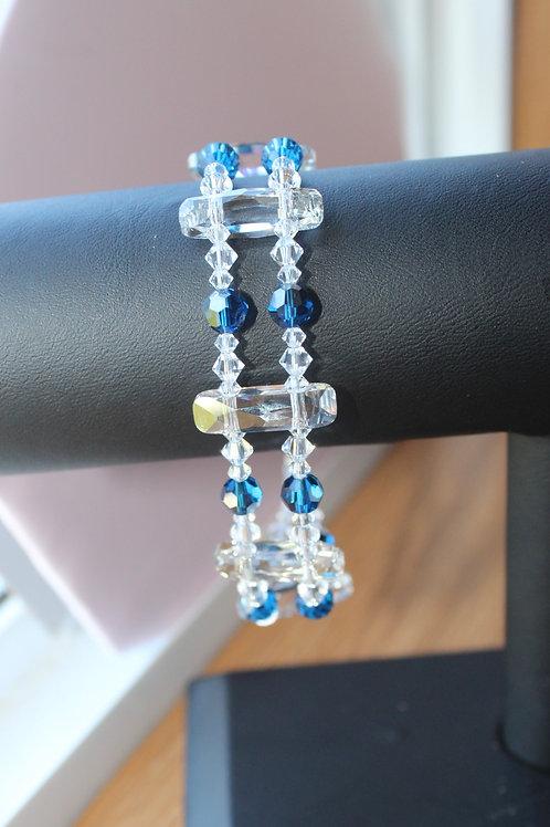 Royal Capri Blue Double Strand Bracelet