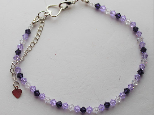 Tri-Tone Ankle Bracelet - Multiple Colors Available
