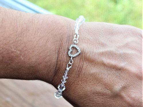 Swarovski Bracelet - Rhinestone Heart Connector