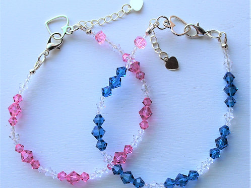 Swarovski Crystal Bi-Color Bracelets - MULTIPLE COLORS AVAILABLE