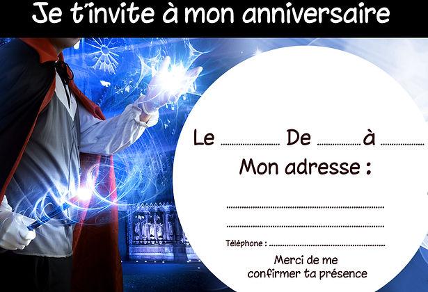 invitation anniversaire enfant tours