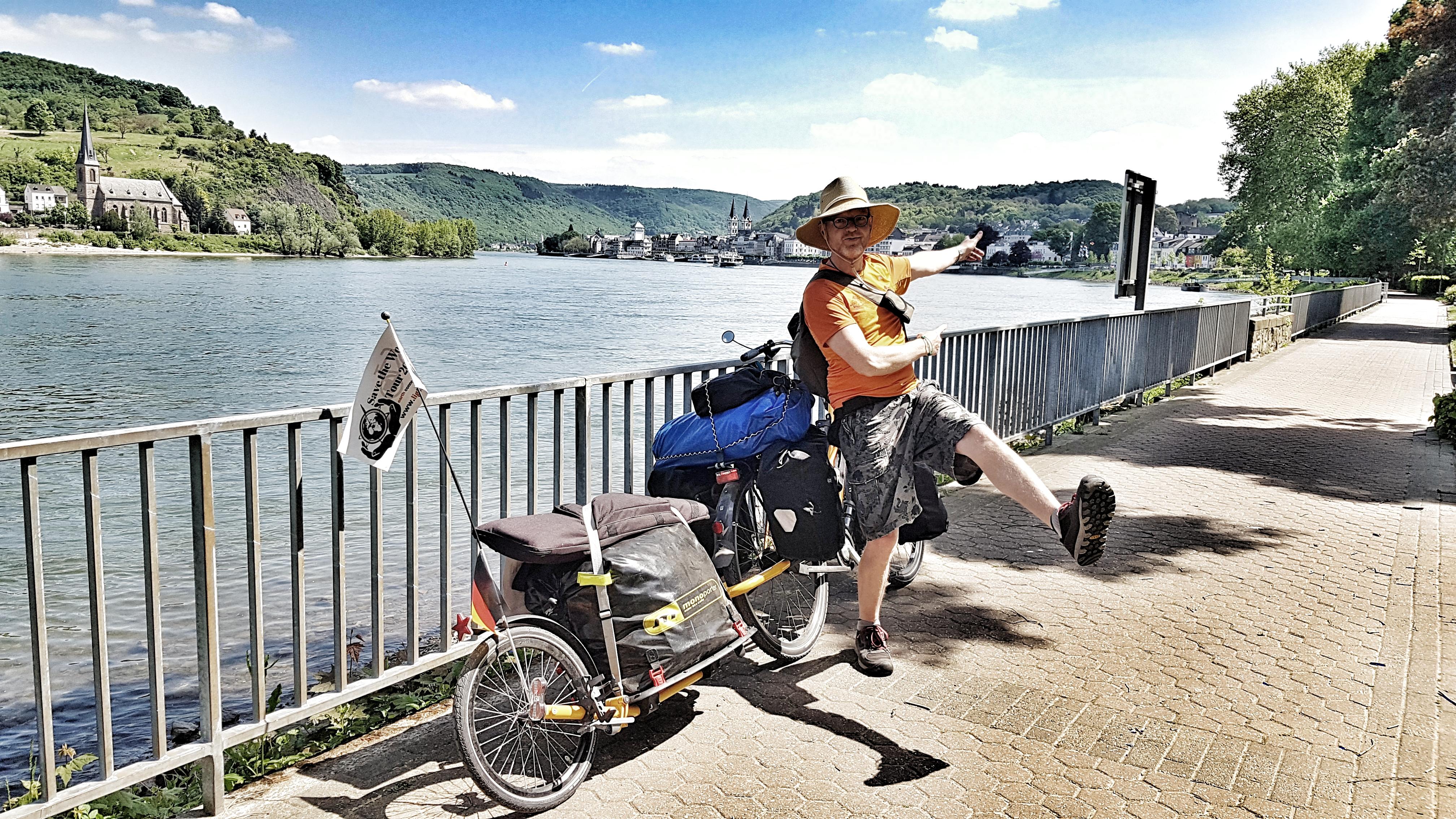 Luftsprünge am Rhein nach einer Woche