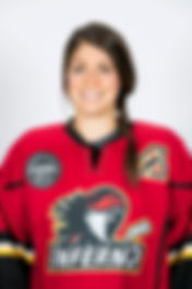 Rebecca Johnston as an assistant captain for the CWHL's Calgary Inferno.