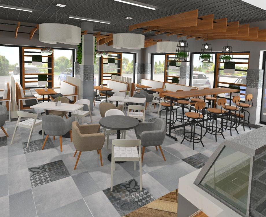 Дизайн проект кафе на АЗС