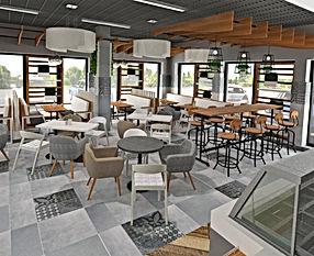 Дизайн проект кафе на АЗС Лукойл