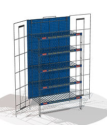 Retail Grocery Mobile Chip Bread Rack