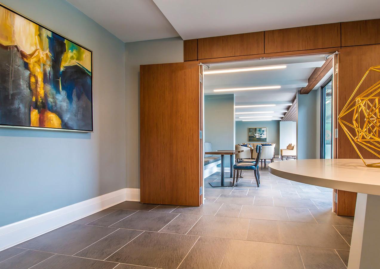 Corridor within the clubroom