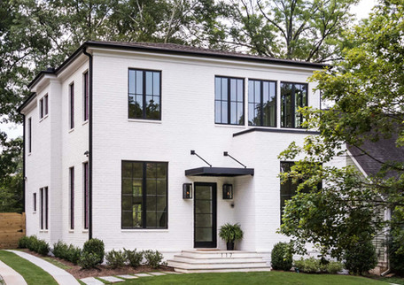 A gracious exterior conforming to its neighborhood