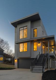A modern exterior with maximum natural light