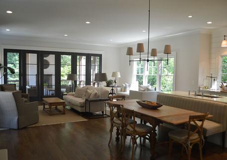 Living room with abundant natural light