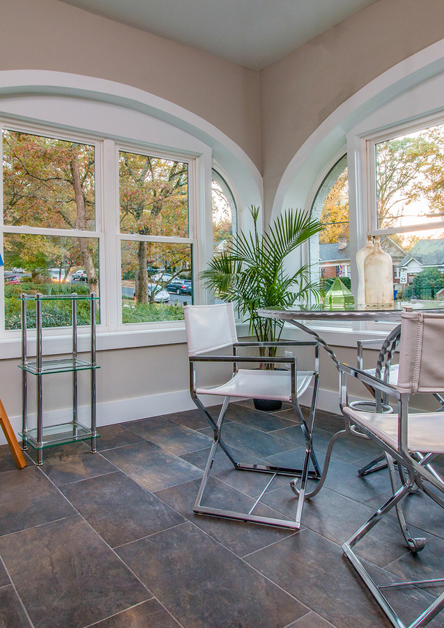 A sunroom with a gorgeous view