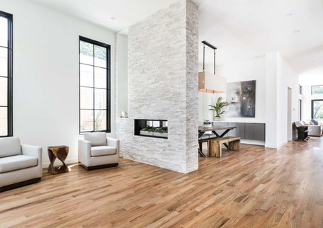 An inviting living area with fireplace