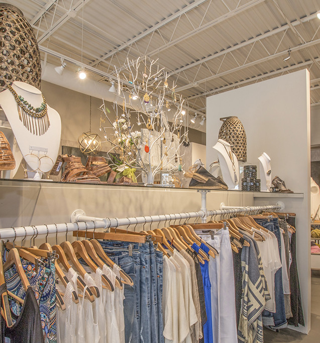 Clothing and jewelry display