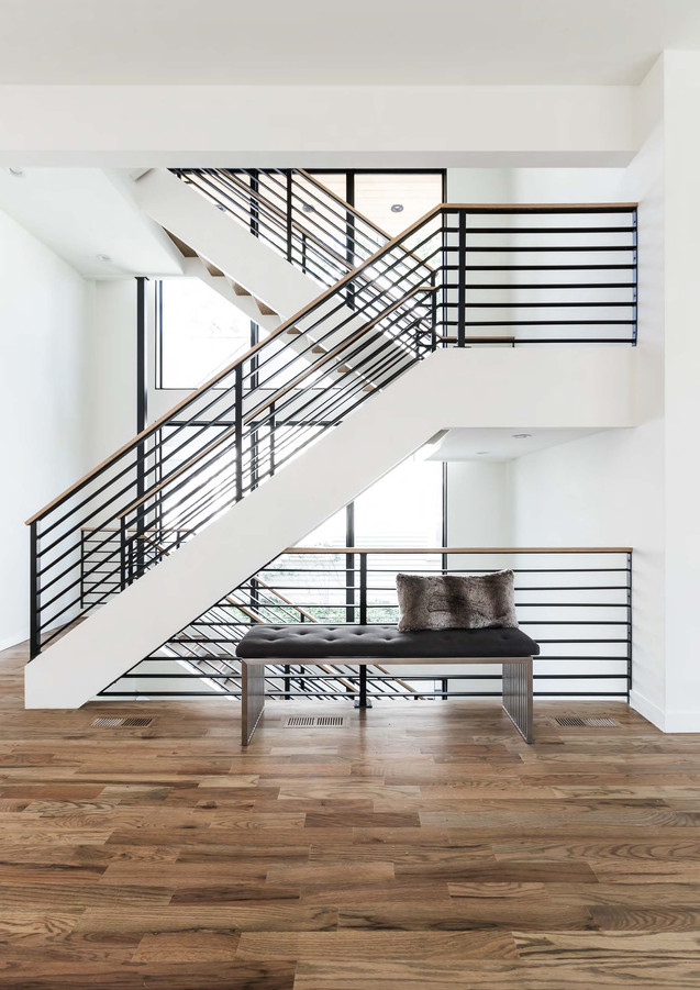 A staircase with style