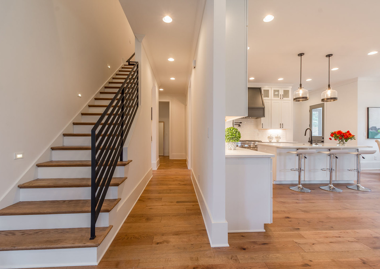 Staircase from the open living area