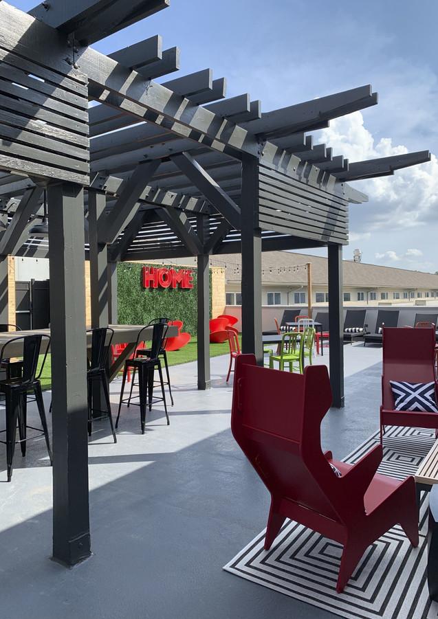 Inman Quarter rooftop seating