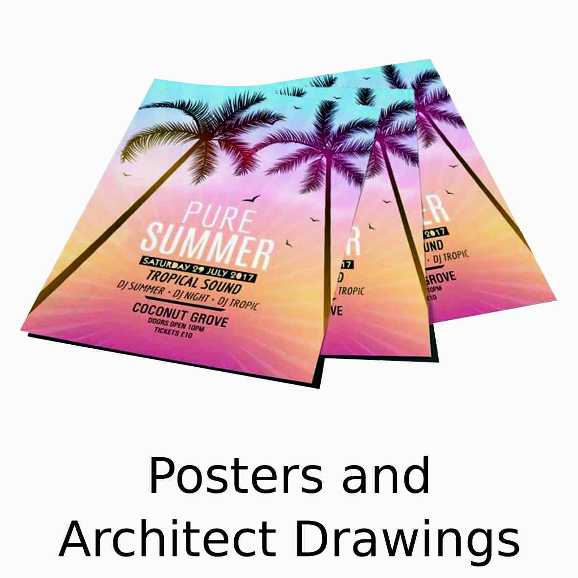 Posters and Architect Drawings
