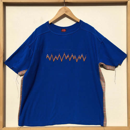 JETPACK HOM(M)E DECONSTRUCTED VINTAGE TEE WITH ZIG-ZAG EMBROIDERY