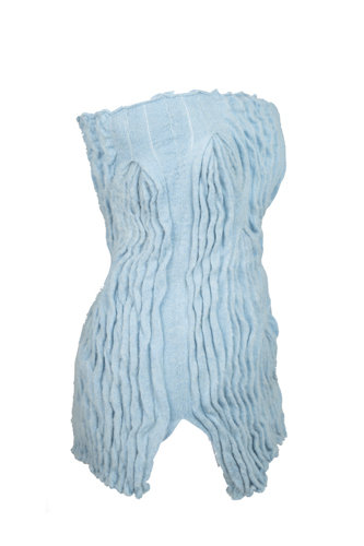 ARCHIE DICKENS PLEATED MOHAIR SKIRT/ TOP