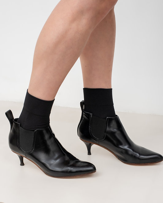 ACNE STUDIOS LEATHER ANKLE BOOTS KITTEN HEEL
