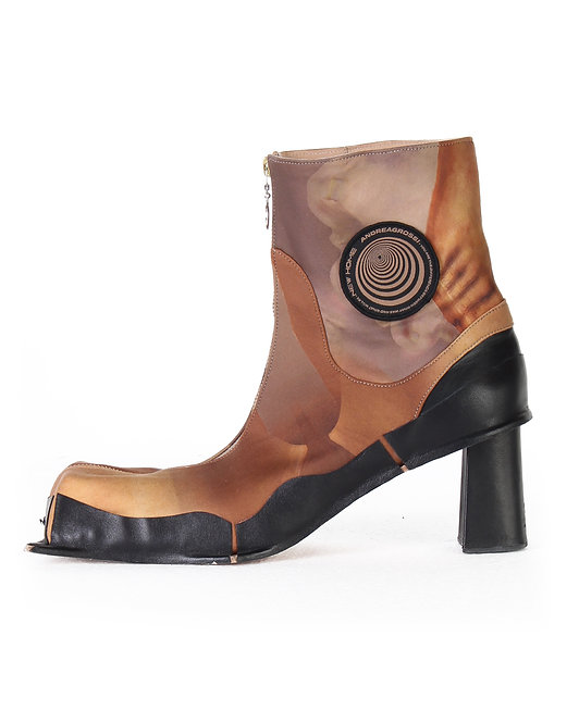 ANDREA GROSSI SQUARED LYCRA BOOTS