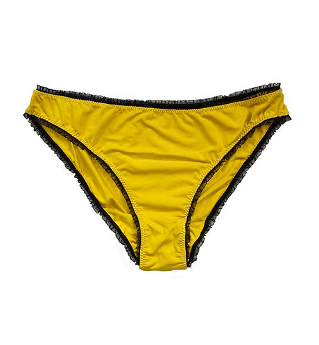 STITCH ETHICAL MUSTARD BAMBOO KNICKERS