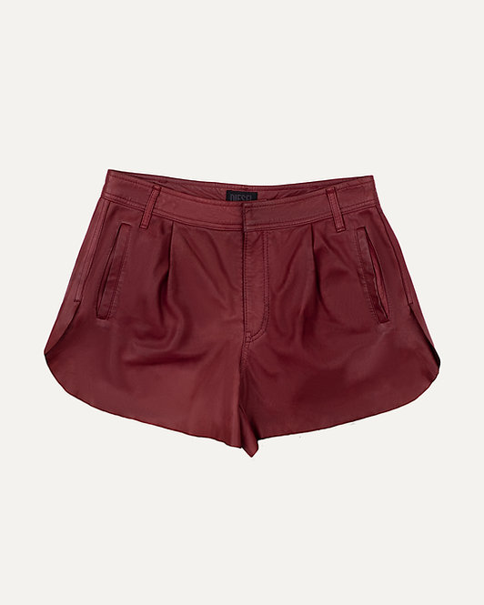 DIESEL LEATHER SHORTS