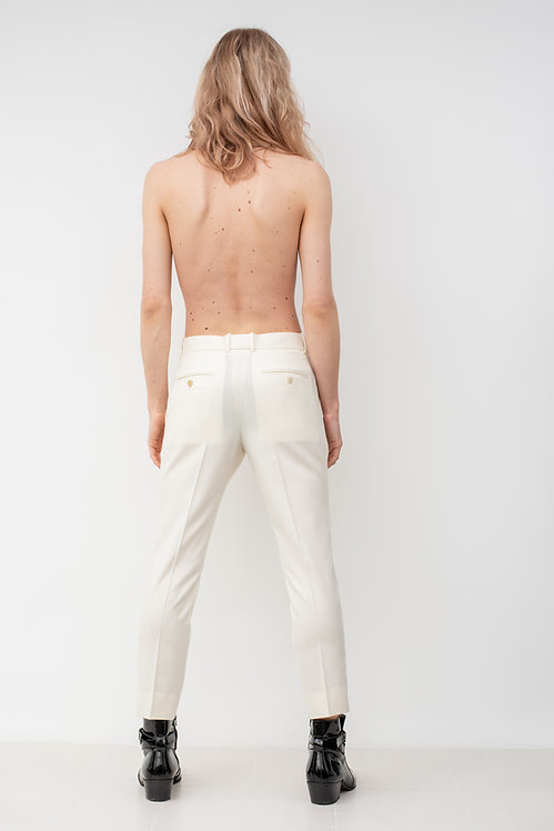 ALEXANDER MCQUEEN WHITE TROUSERS
