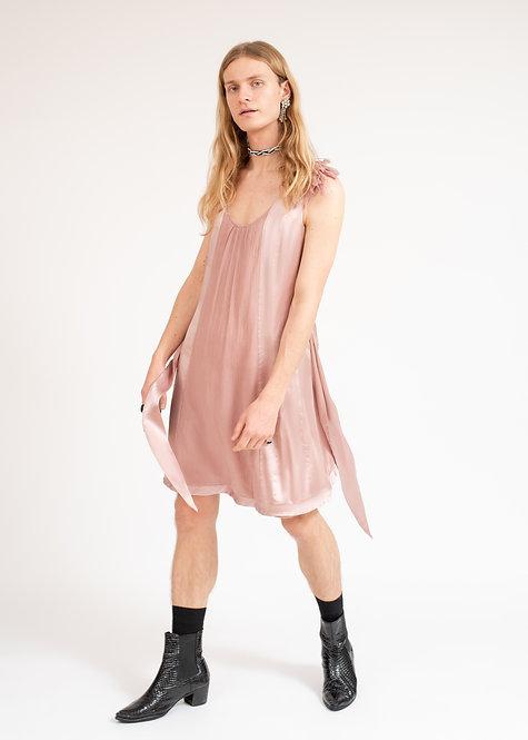 Silk pink dress