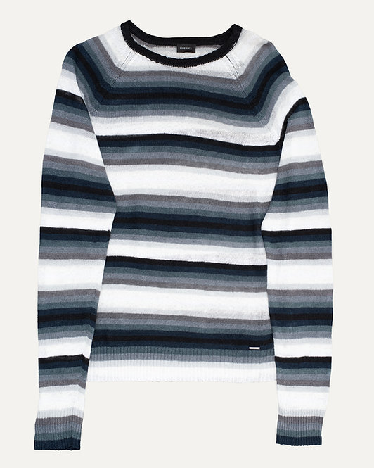 DIESEL STRIPED KNIT PULLOVER