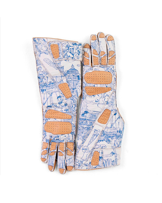 ANDREA GROSSI BIKER JACQUARD GLOVES IN COLLABORATION WITH CHANNEL ATELIER CAUSSÉ