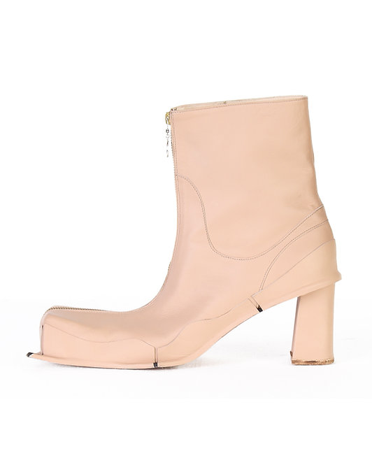 ANDREA GROSSI SQUARED LEATHER BOOTS