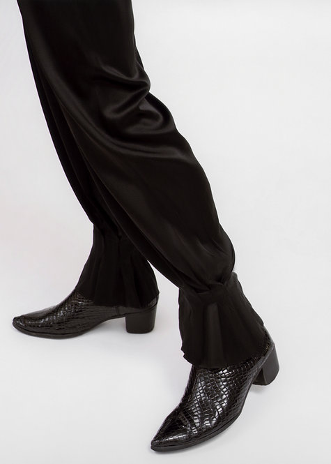 HILLIER BARTLEY SILK TROUSERS