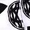 KTZ LONG INTARSIA BLACK AND WHITE SOCKS
