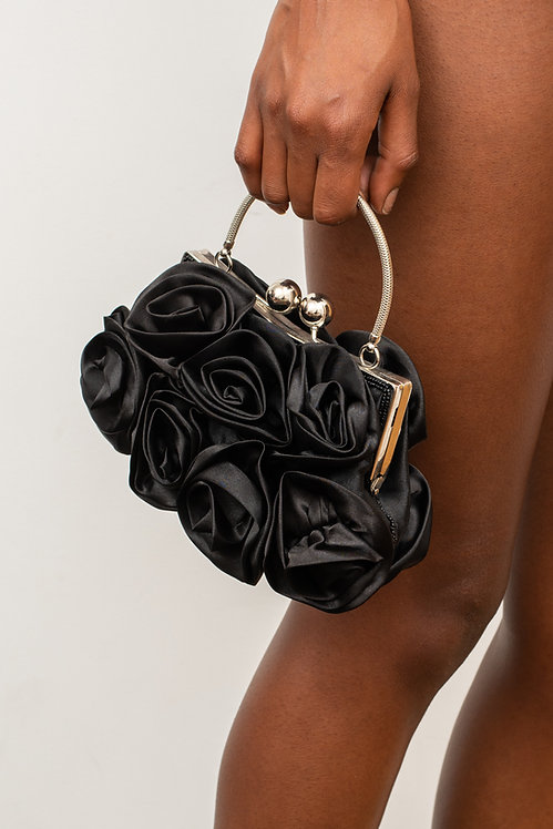 BLACK ROSE HANDBAG