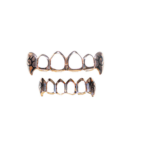 ANDREA GROSSI PINK GOLD GRILLZ