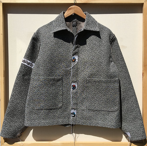 JETPACK HOM(M)E GREY JACKET WITH HANDMADE BUTTONS