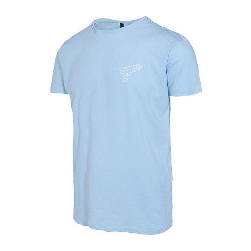 Camiseta Reptil Corp Alien Gun Azul Baby