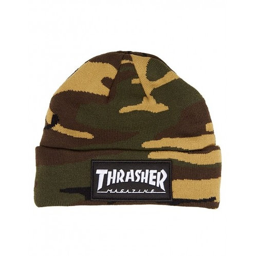 Gorro Thrasher Patch Beanie Camo