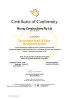 20996 OHS certificate Aug19