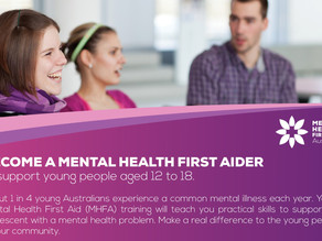 Oct 2020 Training - Youth Mental Health First Aid