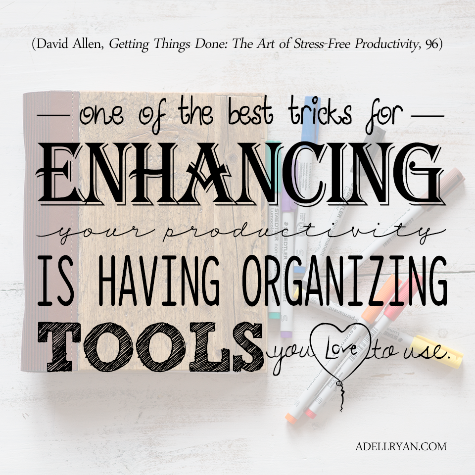 Quote About Favorite Organizing Planning Tools for Productivity Binder, Markers, Lists, Free Yearly Planner Template Printable