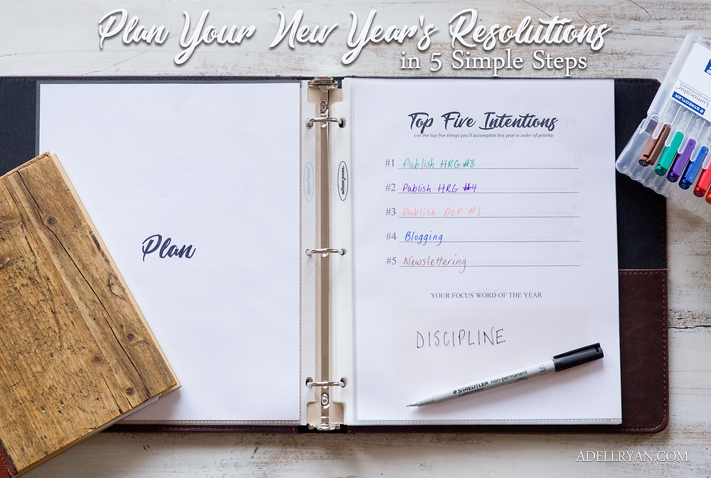 Favorite Organization Planning Tools Binder, Markers, Lists, Free Yearly Planner Template Printable