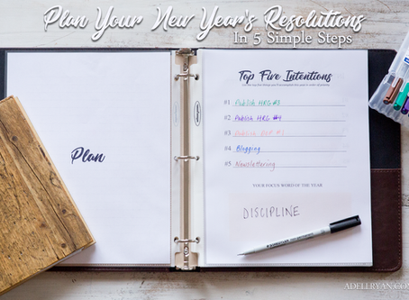 Plan Your New Year's Resolutions in 5 Simple Steps